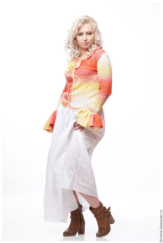 вязаная блузка, блузка вязаная, вязаная кофта, кофта вязаная, блузка из мохера, мохеровая блузка, женская одежда, вязаная одежда, трикотажная одежда, яркая окраска, радуга, настроение, меланж, мохер