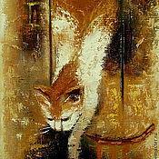 Картины и панно ручной работы. Ярмарка Мастеров - ручная работа Солнечный кот) Картина маслом, холст на подрамнике. Handmade.