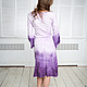 Felted dress with long sleeves 'Purple Ombre'. Dresses. lenabaymut (Baymut). Online shopping on My Livemaster.  Фото №2