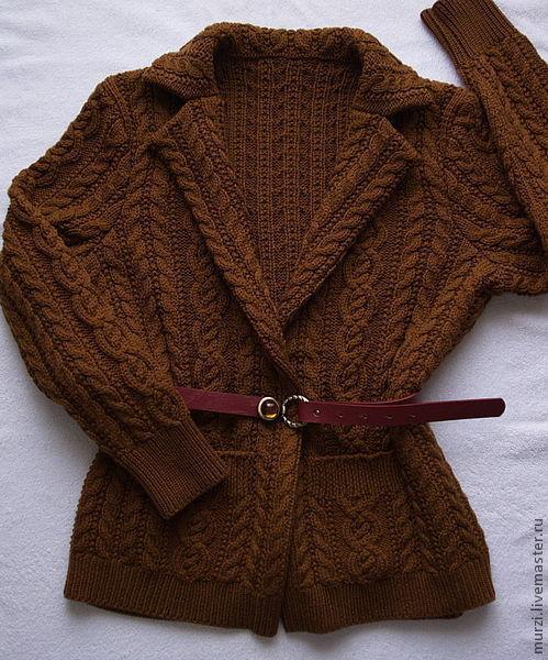 Пиджаки, жакеты ручной работы. Ярмарка Мастеров - ручная работа. Купить Жакет коричневый дубль. Handmade. Коричневый, шерсть 100%