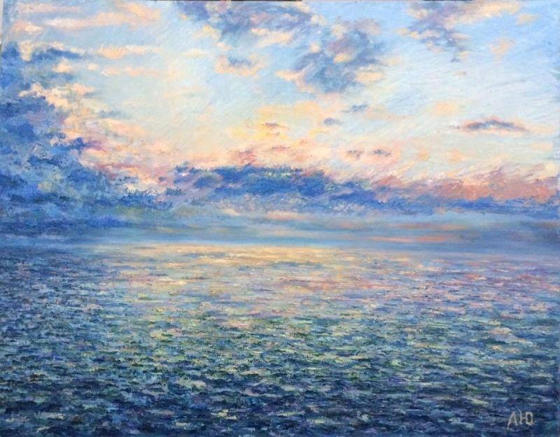 Море. 90-70 см. Масло. Холст. Цена: 35000, Картины, Алушта,  Фото №1