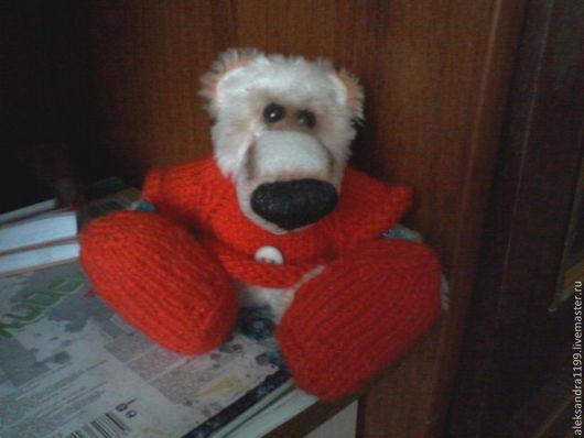 Мишки Тедди ручной работы. Ярмарка Мастеров - ручная работа. Купить Новогодний мишка Тедди. Handmade. Белый, в шапке