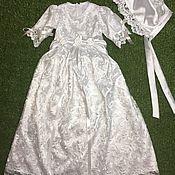 Работы для детей, ручной работы. Ярмарка Мастеров - ручная работа Платье и чепчик для крещения. Handmade.