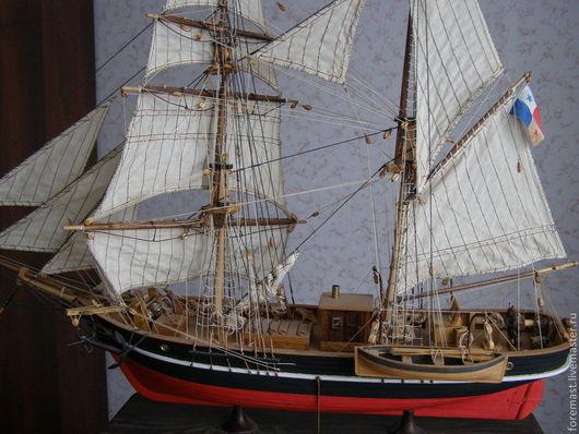 Комплекты аксессуаров ручной работы. Ярмарка Мастеров - ручная работа. Купить модель корабля бригантина. Handmade. Корабль