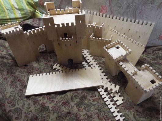 Развивающие игрушки ручной работы. Ярмарка Мастеров - ручная работа. Купить Конструктор-Старый замок. Handmade. Бежевый, индивидуальный стиль