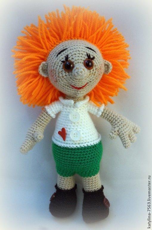 Человечки ручной работы. Ярмарка Мастеров - ручная работа. Купить Мальчик Рыжик. Handmade. Разноцветный, незнайка, рыжая кукла