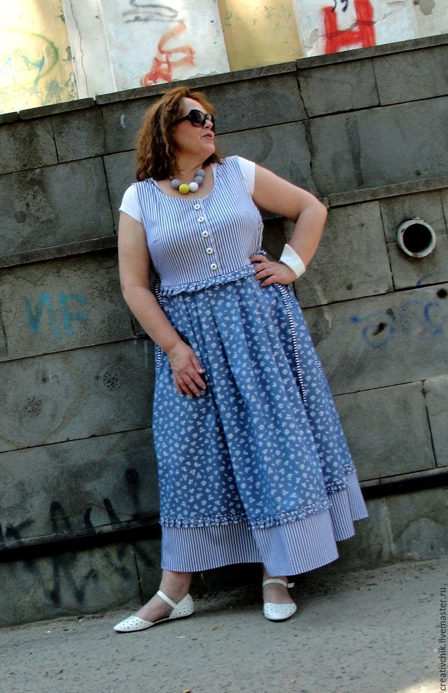 Dresses handmade. Livemaster - handmade. Buy Denim sundress 1.Blue, casual wear, summer dress jeans
