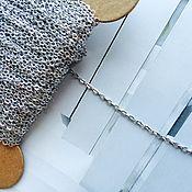 Цепочки ручной работы. Ярмарка Мастеров - ручная работа ЦЕПОЧКА латунь с родированным покрытием 1см Корея. Handmade.