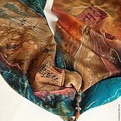 """Аксессуары ручной работы. Ярмарка Мастеров - ручная работа Шарф """"Кофейная кантата"""" батик. Handmade."""