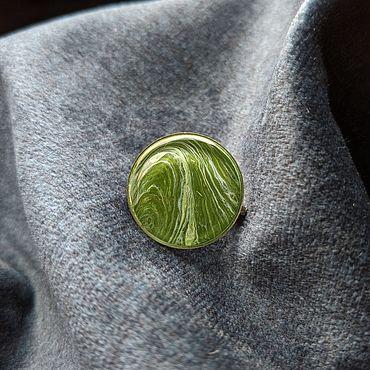 """Украшения ручной работы. Ярмарка Мастеров - ручная работа Брошь """"Зелёная роща"""", земля, флюид арт. Handmade."""
