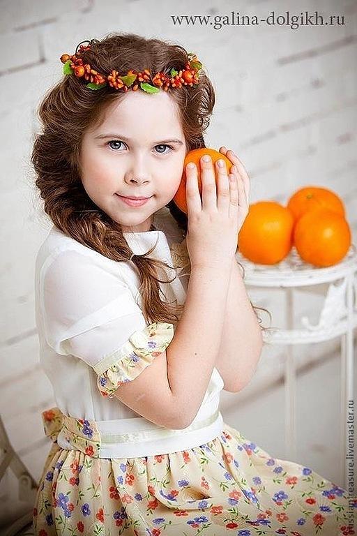 Диадемы, обручи ручной работы. Ярмарка Мастеров - ручная работа. Купить Венок для волос Апельсиновый Щербет. Handmade. Оранжевый, веночек