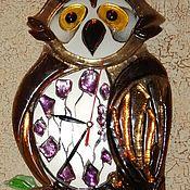 Часы классические ручной работы. Ярмарка Мастеров - ручная работа Часы: Сова.. Handmade.