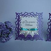 """Карточки ручной работы. Ярмарка Мастеров - ручная работа Рассадочные карточки """"Фиолет"""". Handmade."""