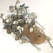 Украшения handmade. Livemaster - original item Pearl-smoky study. Necklace.. Handmade.