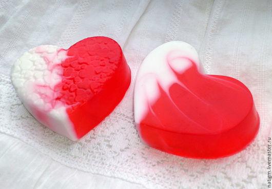 Мыло ручной работы. Ярмарка Мастеров - ручная работа. Купить Мыло Сердце со свирлами. Handmade. Мыло сердце