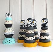 Куклы и игрушки ручной работы. Ярмарка Мастеров - ручная работа Пирамидка пингвинчик. Handmade.