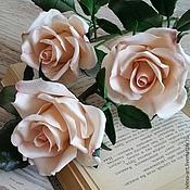 Цветы и флористика ручной работы. Ярмарка Мастеров - ручная работа букет кремовых роз. Handmade.