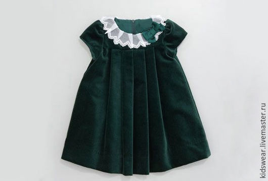 Одежда для девочек, ручной работы. Ярмарка Мастеров - ручная работа. Купить Платье «Изумруд». Handmade. Тёмно-зелёный, зеленый, бархат