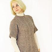 Одежда handmade. Livemaster - original item Knitted wool sweater with pockets. Handmade.