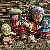 Вязаные куклы из шерсти Шотландская сага