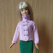 Куклы и игрушки ручной работы. Ярмарка Мастеров - ручная работа сиреневый жакет и юбка. Handmade.