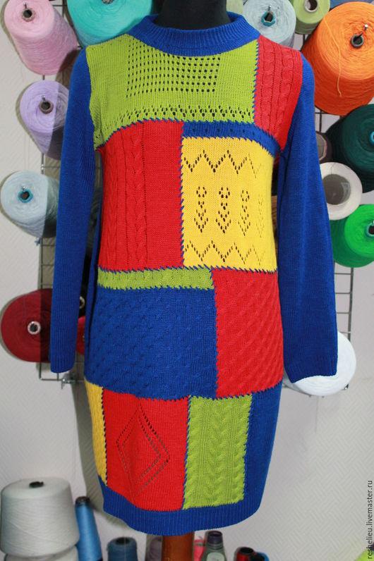 Кофты и свитера ручной работы. Ярмарка Мастеров - ручная работа. Купить Туника вязаная №37 из 30% итальянской шерсти. Handmade.