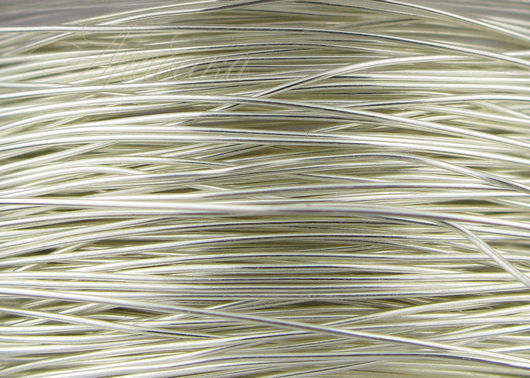 Проволока Silver Filled 0.33мм мягкая серебряная Beadsmith (США) 0.5м