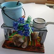 Куклы и игрушки ручной работы. Ярмарка Мастеров - ручная работа Кукольная миниатюра. Летний сон кота. Handmade.