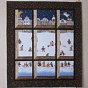 """Для дома и интерьера ручной работы. Ярмарка Мастеров - ручная работа плед-панно """"Зимним вечером..."""". Handmade."""