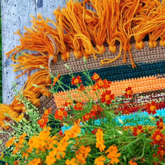 """Текстиль, ковры ручной работы. Ярмарка Мастеров - ручная работа. Купить Коврик """"Тихая пора"""". Handmade. Коврик, текстиль для дома"""