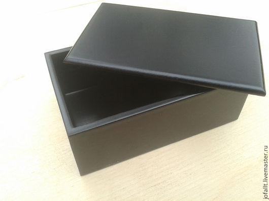Подарки для мужчин, ручной работы. Ярмарка Мастеров - ручная работа. Купить Шкатулка деревянная чёрная  ШФО - 80-50-30. Handmade.
