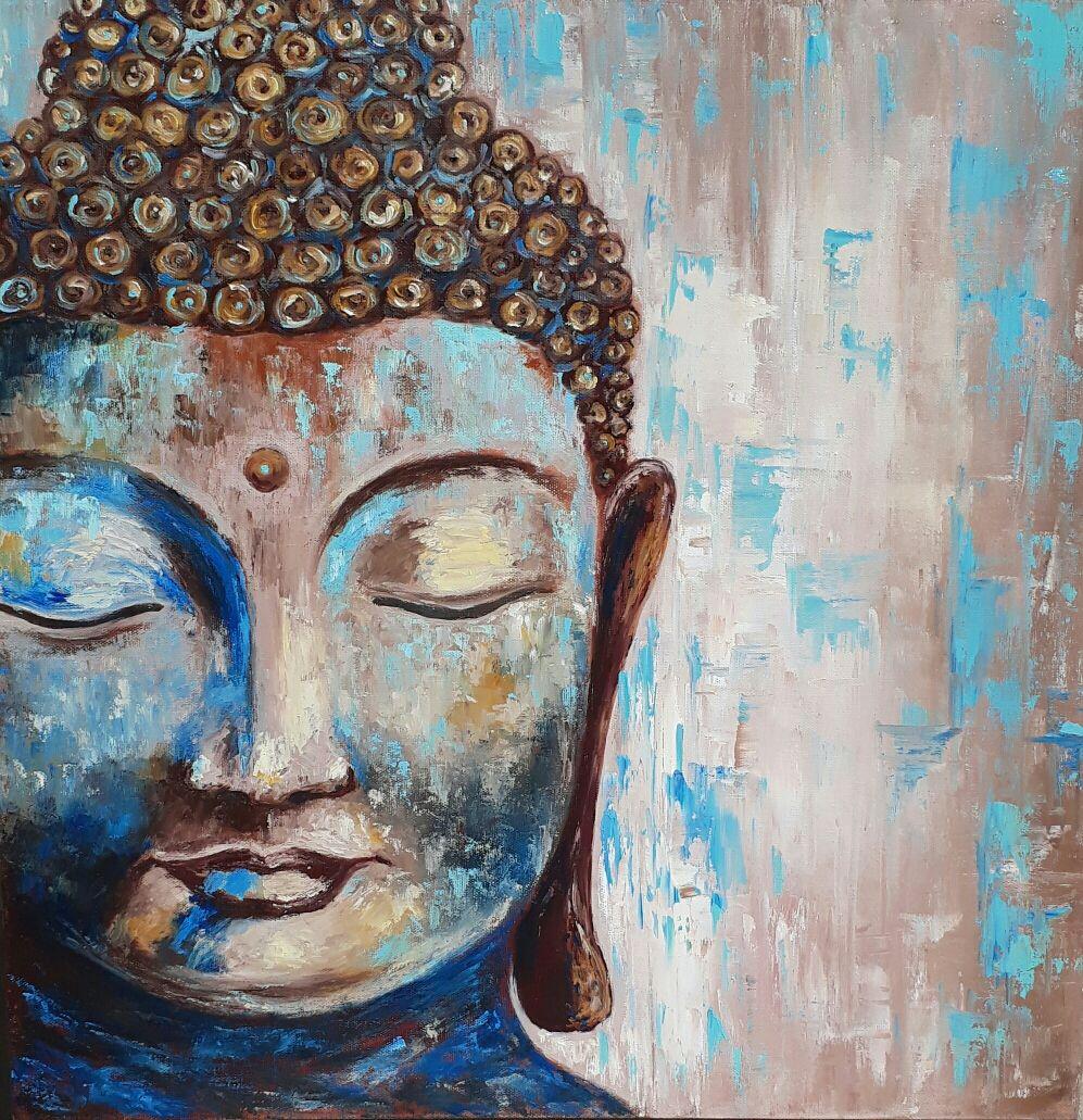 Картина маслом Будда на холсте 60 на 60см, Картины, Москва,  Фото №1