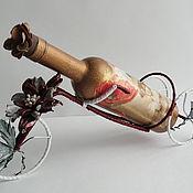 """Подарки к праздникам ручной работы. Ярмарка Мастеров - ручная работа Подставка под вино """"Дамский велосипед"""". Handmade."""