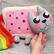 Куклы и игрушки handmade. Livemaster - original item Nyan kat toy, Nyancat soft toy. Handmade.