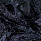 Аксессуары handmade. Livemaster - original item Silk scarf stole black big long. Handmade.