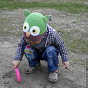 Работы для детей, handmade. Livemaster - original item cap children knitted