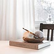 Материалы для творчества handmade. Livemaster - original item 7mm Cedar Wood Knitting Hook. K299. Handmade.