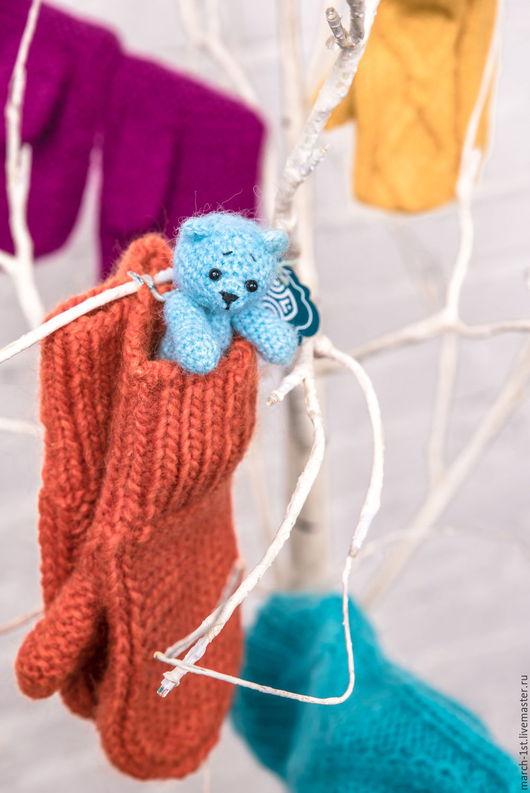 Варежки, митенки, перчатки ручной работы. Ярмарка Мастеров - ручная работа. Купить Варежки «Лама». Handmade. Варежки, подарок подруге