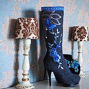 """Обувь ручной работы. Ярмарка Мастеров - ручная работа Валенки """"Синие мечты"""". Handmade."""