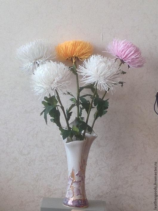 Интерьерные слова ручной работы. Ярмарка Мастеров - ручная работа. Купить хризантемы из фоамирана. Handmade. Фоамиран, цветы из фоамирана, цветы