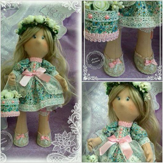 Куклы тыквоголовки ручной работы. Ярмарка Мастеров - ручная работа. Купить Интерьерная кукла,снежная девочка.. Handmade. Комбинированный