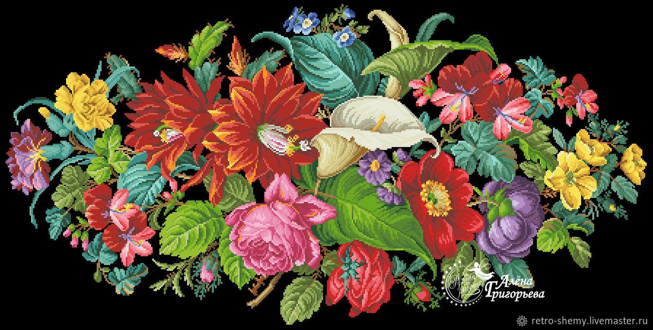 """Схема вышивки """"Цветочный рай"""", Схемы для вышивки, Москва,  Фото №1"""