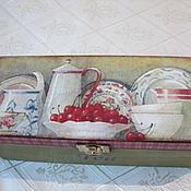 """Для дома и интерьера ручной работы. Ярмарка Мастеров - ручная работа """"Десерт с вишней"""" шкатулка для чая. Handmade."""