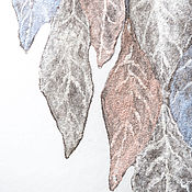 """Аксессуары ручной работы. Ярмарка Мастеров - ручная работа Авторский валяный шарф """"сНежный"""". Handmade."""