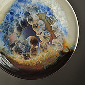 "Посуда handmade. Livemaster - original item Porcelain plate ""Harmony of contrasts"". Handmade."