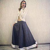Одежда ручной работы. Ярмарка Мастеров - ручная работа Джинсовая юбка в стиле бохо. Handmade.