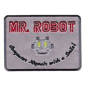 Аппликации ручной работы. Ярмарка Мастеров - ручная работа Нашивка Мистер робот, хакер, компьютерный гений, Mr Robot. Handmade.