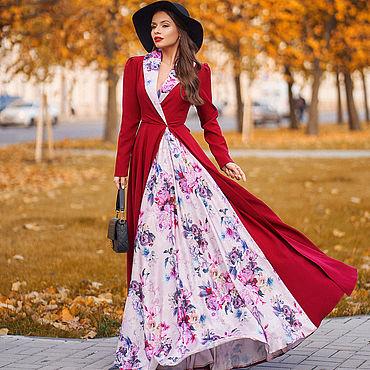 Одежда ручной работы. Ярмарка Мастеров - ручная работа Платье в макси длине , шёлковая отделка. Handmade.