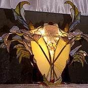 Для дома и интерьера ручной работы. Ярмарка Мастеров - ручная работа Витражный светильник-герб,геральдическая фантазия.. Handmade.