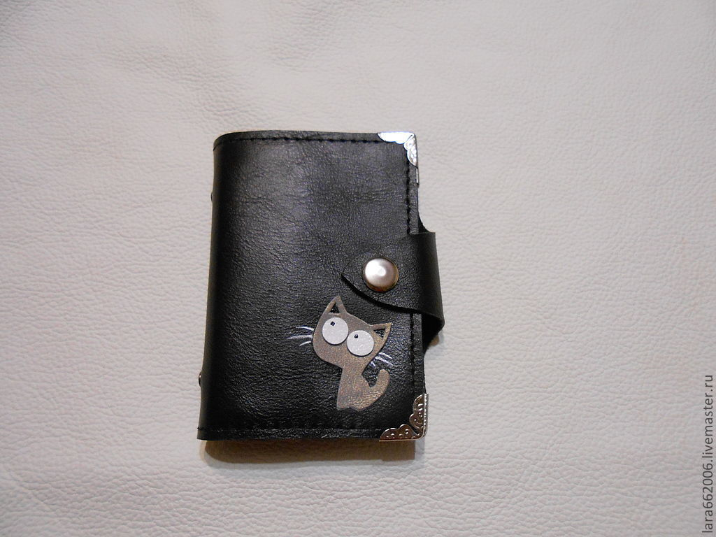 Business card holder book of skin gray cat shop online on wallets business card holders handmade livemaster handmade buy business card holder reheart Gallery